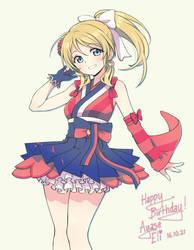 Happy Birthday Ayase Eli! by paxiti