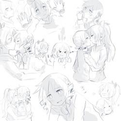 MamiKyoko Sketchdump by Misaka-Chan