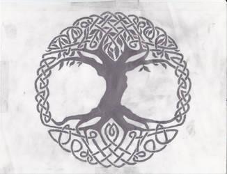 Celtic Tree of Life by Grimstnzborith