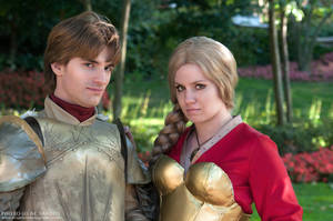 Brother and Sister - Jaime and Cersei Lannister by blAIRbender