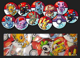 more new pokemon buttons by tikopets