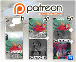 Patreon rewards March 2016 by tikopets