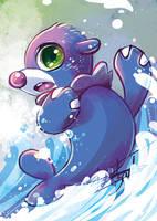 Pokemon Fanart Popplio by tikopets
