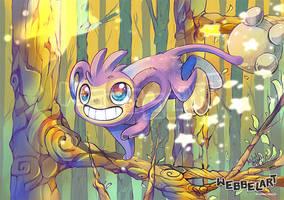 Aipom Pokemon Fanart by tikopets