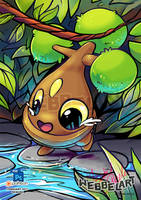 Bonsly pokemon fanart by tikopets