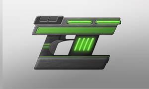 Sci-Fi Gun Design 3 by Saza-Productions