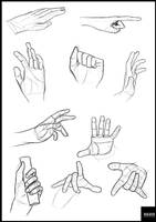Hands study by Saza-Productions