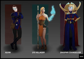 Character Concepts  -  Character Lineup by Saza-Productions