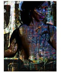 Portrait of Jasmine Shy numero 7 and aHalf by JMbucholtz