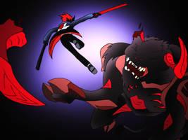 Commission- Taurus vs Kane-Ra by NickOnPlanetRipple