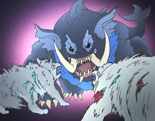 Beast Wars Throwdown by NickOnPlanetRipple