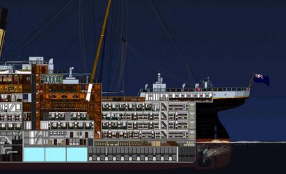 Titanic Cutaway Aft by Jimmy-C-Lombardo