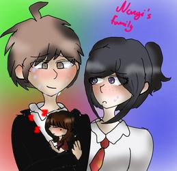 Naegi's family by sweetsweetmina