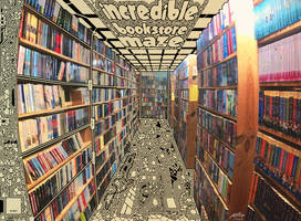 Incredible Bookstore Maze by leothefox
