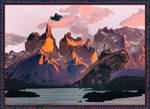 Sharp Mountains by leothefox