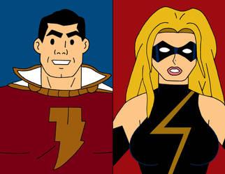 Captain Marvel VS Ms. Marvel by cartoonist91