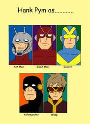 Hank Pym as............ by cartoonist91