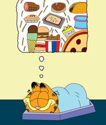 Garfield Dreaming by cartoonist91