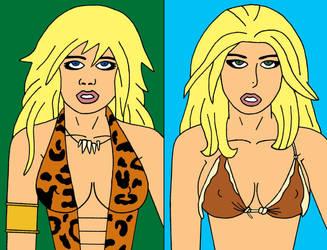 Sheena and Shanna by cartoonist91
