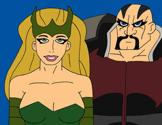 The Enchantress and The Executioner by cartoonist91