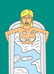 Supergirl taking a bath by cartoonist91