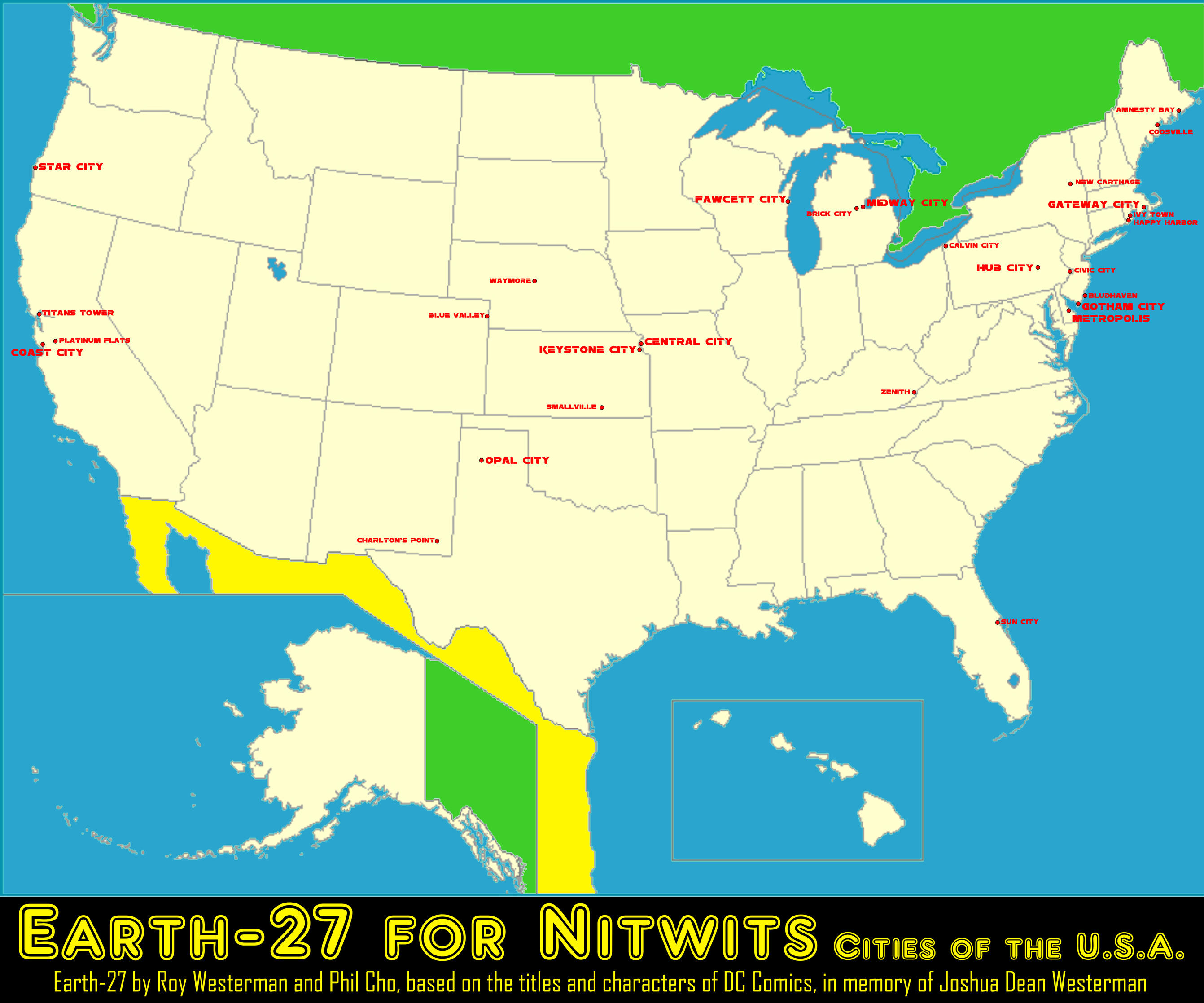Earth-27 for Nitwits - Cities of the USA [WiP] by Roysovitch