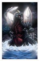 Space Godzilla by mikegoesgeek