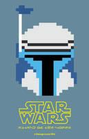 8-Bit Star Wars: Attack of the Clones Poster by EpsilonTLOSdark4