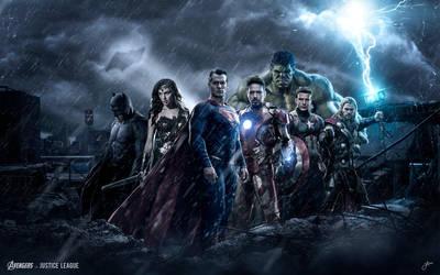 The Avengers vs Justice Leauge by JMattisson