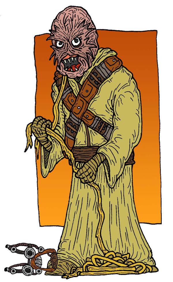 Tusken Raider Unmasked By Lordwormm On Deviantart