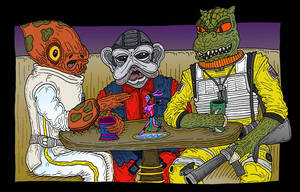 Ackbar, Nunb, Bossk by Lordwormm