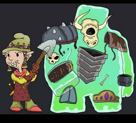 Gnome and Golem by Lordwormm