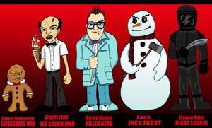 Horror - Gingerdead, Killer Nerd, Jack Frost by Lordwormm