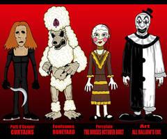 Horror - Curtains, Art, Houses, Boneyard by Lordwormm
