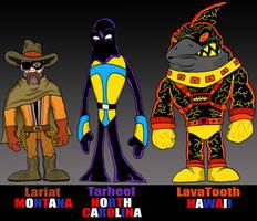 STATE HEROES:  MT - NC - HI by Lordwormm