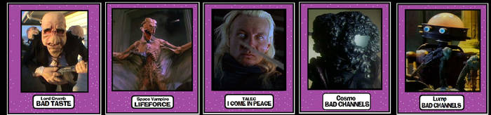 Scifi Horror Trading Cards by Lordwormm