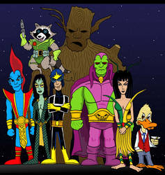 Classic Guardians of the Galaxy by Lordwormm