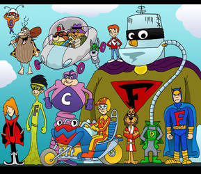 Hanna-Barbera Heroes by Lordwormm