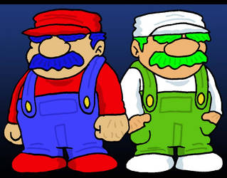Mario Brothers by Lordwormm