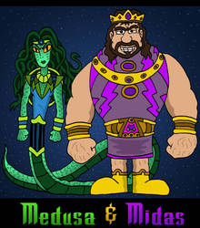 Medusa and Midas by Lordwormm