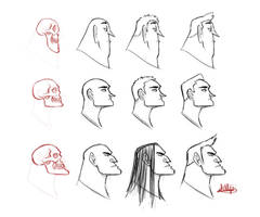 Character Profile Skull Study by LuigiL