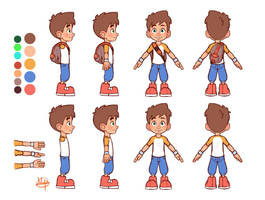 Leo A-Frame Model Sheet by LuigiL