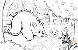 Making Friends Sketch by LuigiL