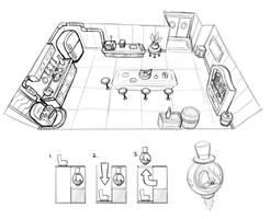Kitchen Sketch by LuigiL