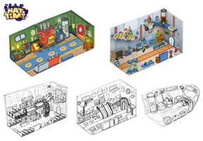 Train Interior Concepts by LuigiL