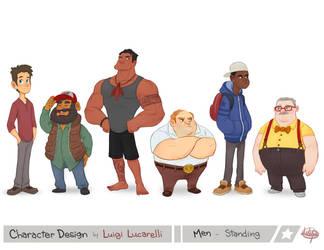 Men Standing by LuigiL