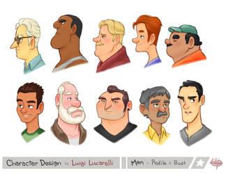 Men Profile Bust by LuigiL