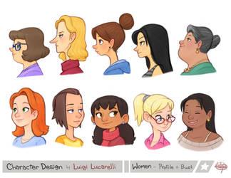 Women Profile Bust by LuigiL