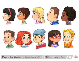 Kids Profile Bust by LuigiL