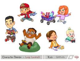 Kids Gesture by LuigiL